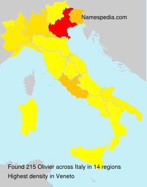 Surname Olivier in Italy