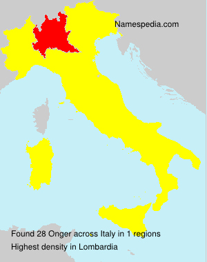 Surname Onger in Italy