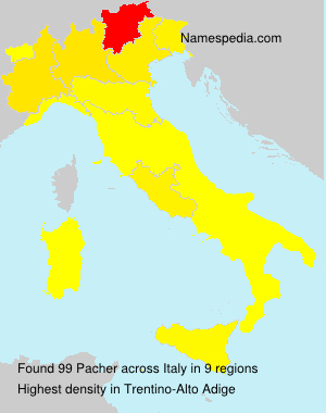 Surname Pacher in Italy
