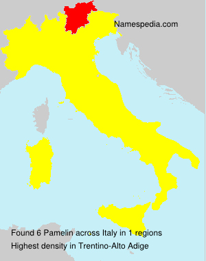 Surname Pamelin in Italy