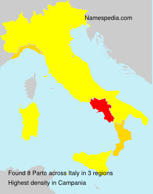 Surname Parto in Italy