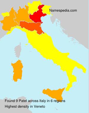 Familiennamen Patel - Italy