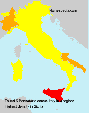 Surname Pennaforte in Italy