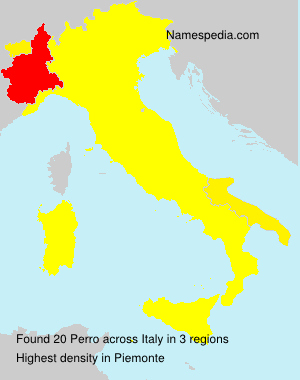 Surname Perro in Italy
