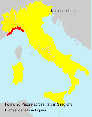 Surname Piazze in Italy