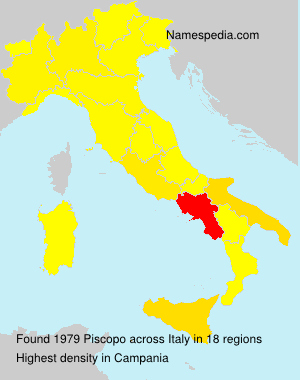 Surname Piscopo in Italy