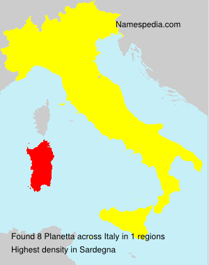 Surname Planetta in Italy