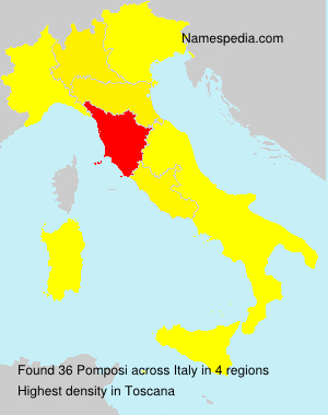 Surname Pomposi in Italy
