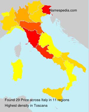 Familiennamen Price - Italy