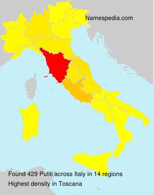 Familiennamen Puliti - Italy