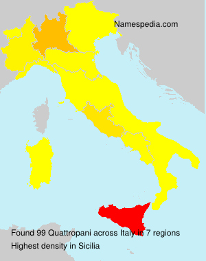 Surname Quattropani in Italy
