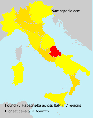Surname Rapagnetta in Italy