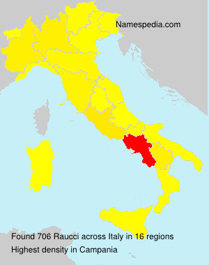Surname Raucci in Italy