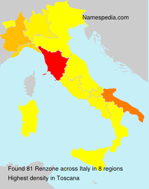 Surname Renzone in Italy