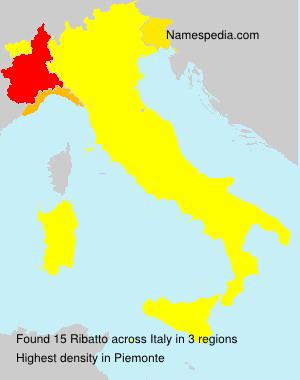 Surname Ribatto in Italy