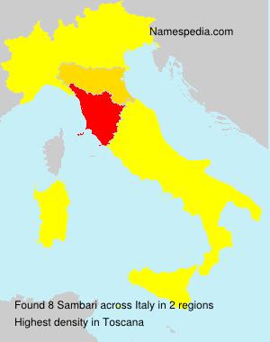 Familiennamen Sambari - Italy