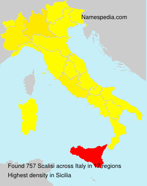 Surname Scalisi in Italy