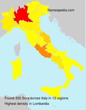 Surname Sora in Italy