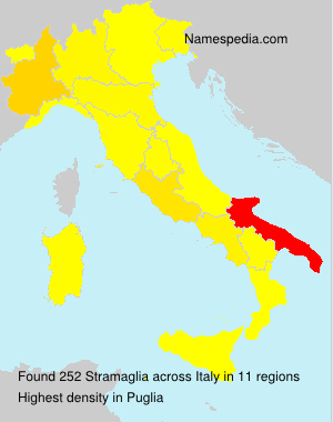 Surname Stramaglia in Italy