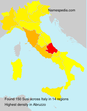 Surname Susi in Italy