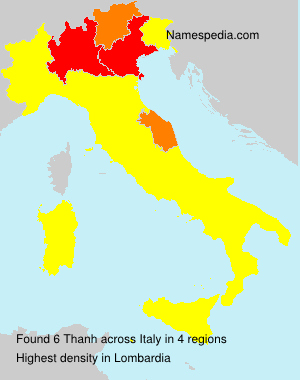 Surname Thanh in Italy