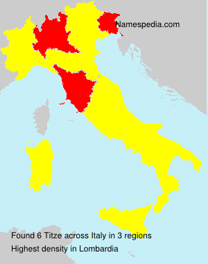 Surname Titze in Italy