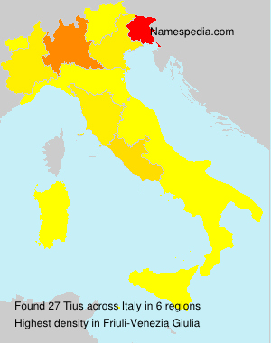 Surname Tius in Italy