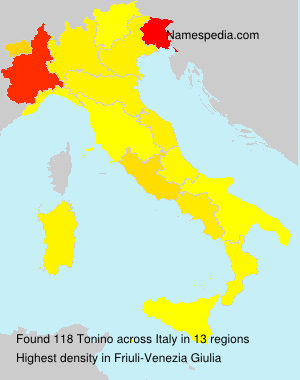 Familiennamen Tonino - Italy