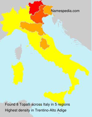 Surname Topalli in Italy