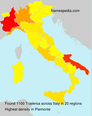 Surname Traversa in Italy