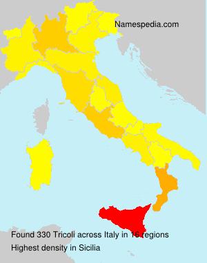 Surname Tricoli in Italy
