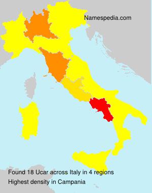 Surname Ucar in Italy