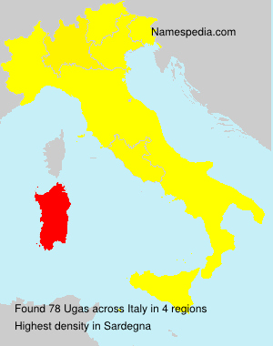 Surname Ugas in Italy