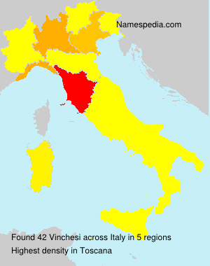 Surname Vinchesi in Italy