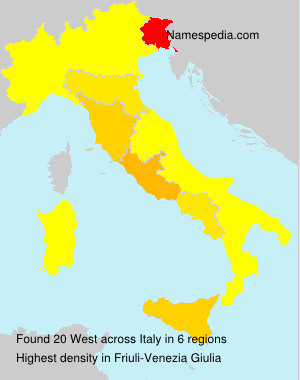 Surname West in Italy