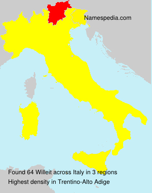 Surname Willeit in Italy