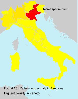 Familiennamen Zaltron - Italy