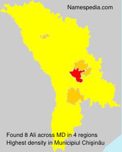 Surname Ali in Moldova