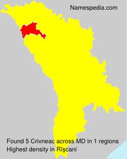 Familiennamen Crivneac - Moldova