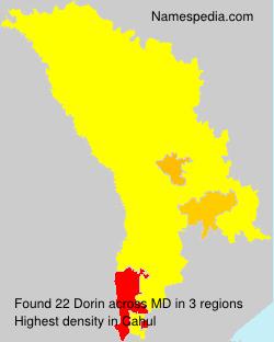 Surname Dorin in Moldova