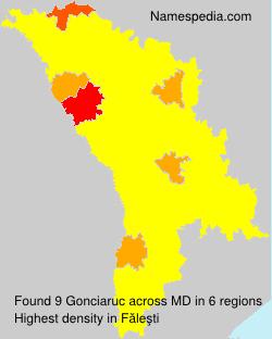 Surname Gonciaruc in Moldova