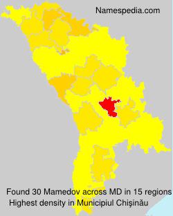 Familiennamen Mamedov - Moldova
