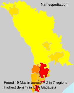 Surname Maslin in Moldova