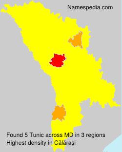 Familiennamen Tunic - Moldova