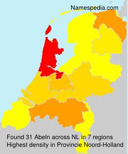 Familiennamen Abeln - Netherlands