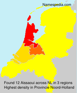 Surname Aissaoui in Netherlands