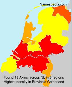 Familiennamen Akinci - Netherlands