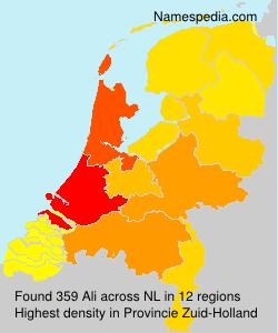 Surname Ali in Netherlands