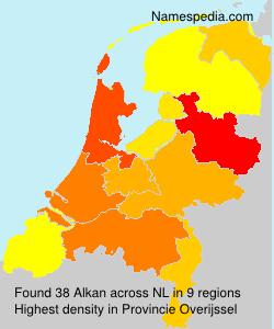 Familiennamen Alkan - Netherlands