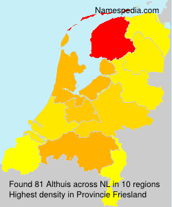 Surname Althuis in Netherlands